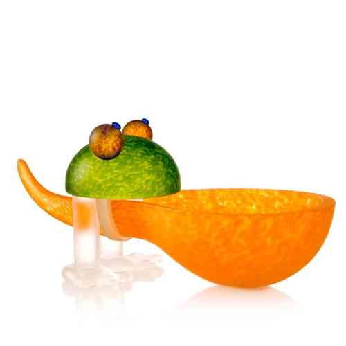 Borowski Glasobject 'Frosch Orange' AR-BO01-36