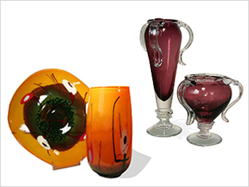 Glass sets  vases & bowls