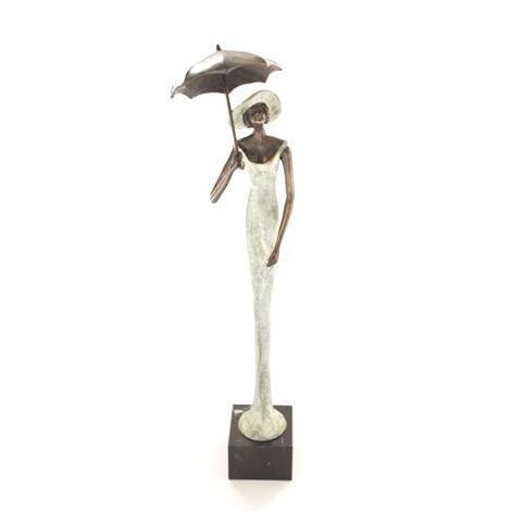 Bronze sculpture 'Lady with an Umbrella' AR-BRMA00470