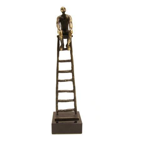 Bronze sculpture 'Carreer Ladder' AR-BRMA00543