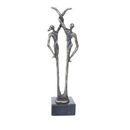 Bronze sculpture 'Connected Man and Woman' AR-BRMA00542