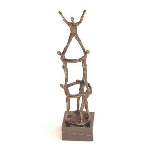 Bronze sculpture 'Working Together' AR-BRMA00326