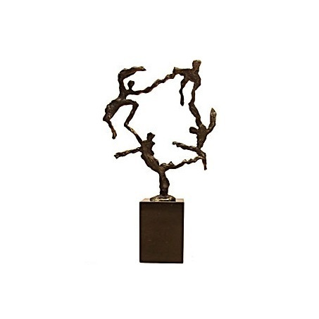 Bronze sculpture 'Teamwork' AR-BRMA00609