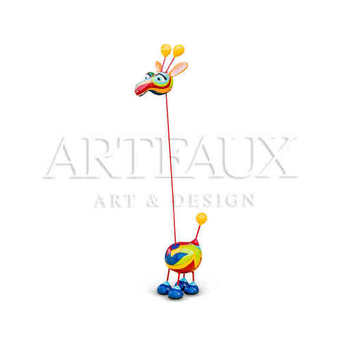 Crazy Giraffe 'Cartoon Design' Medium AR-TR1291-D