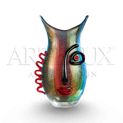 Glas vaas 'Vista Multi Color' AR-GLD39586