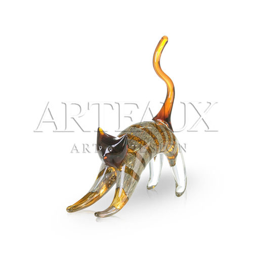 Glassculptuur 'Cute Kitten' AR-CA87228