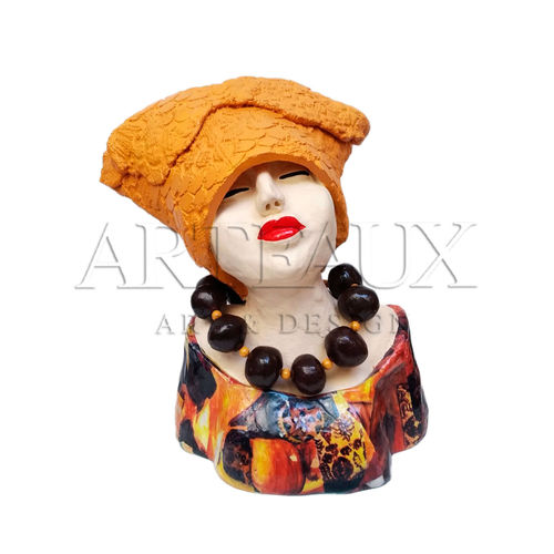 "Deco Object ""Madame Chique"" AR-JH1955A Oker"