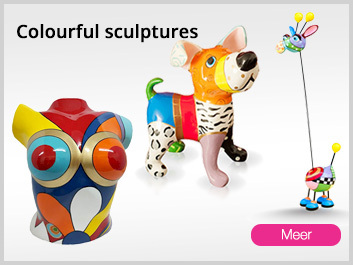 Colorfull happy joy full art sculptures decoration objects and figurines modern abstract